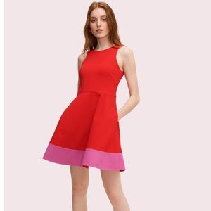 Kate Spade Colorblock Ponte A-Line Dress